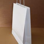 bolsas asa retorcida blanca