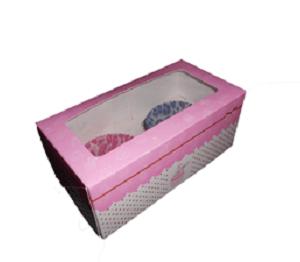 cajas cupcakes 2 unidades