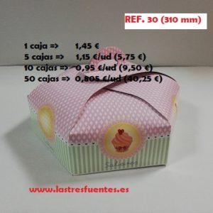 caja hexagonal 30