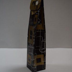 caja de cartón decorada para 1 botella