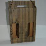 caja de cartón efecto madera
