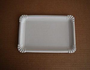 bandeja cartón blanca