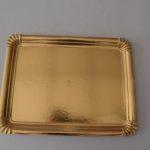 bandeja cartón oro