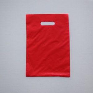 bolsas plástico asa riñón rojo