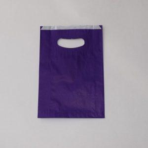 bolsas papel violeta asa riñón
