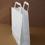 bolsa papel blanca asa plana