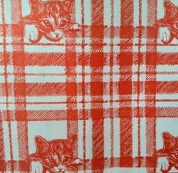 bobina papel regalo gatos naranjas