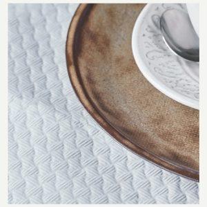 mantel papel 120x120 blanco