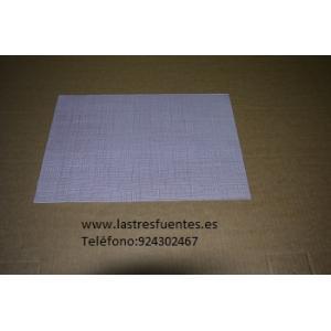 Mantel Blanco con Hilos Burdeos Individual