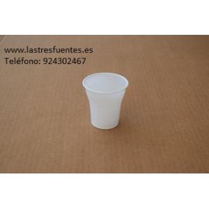 Vaso Blanco de Plastico