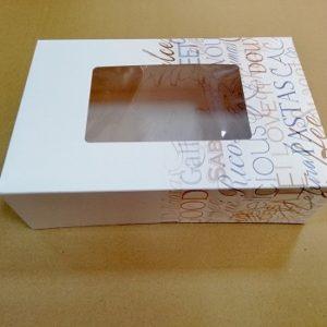 cajas pastas con ventana