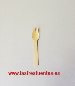 tenedor madera 16 cm