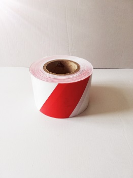 cinta perimetral roja y blanca