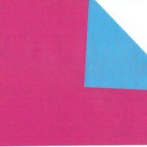 bobina papel doble cara azul y fucsia