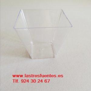 bol cuadrado transparente finger