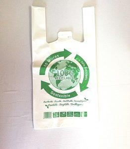 Bolsa asa camiseta 100 % reciclable