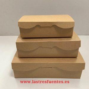 cajas pastelería kraft